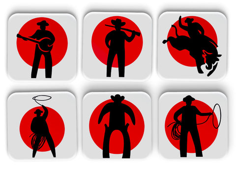 Cowboy Coasters Set Of 6
