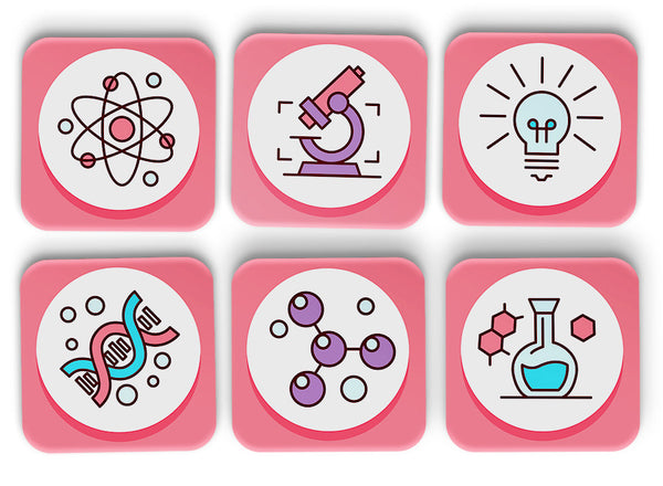 Science Coasters Set Of 6