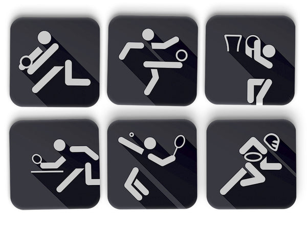 Passionate About Sports Coasters Set Of 6