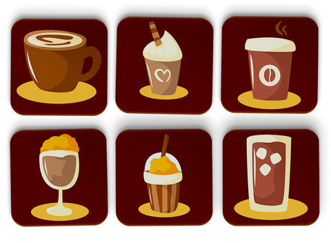 Coffee Coasters Set Of 6