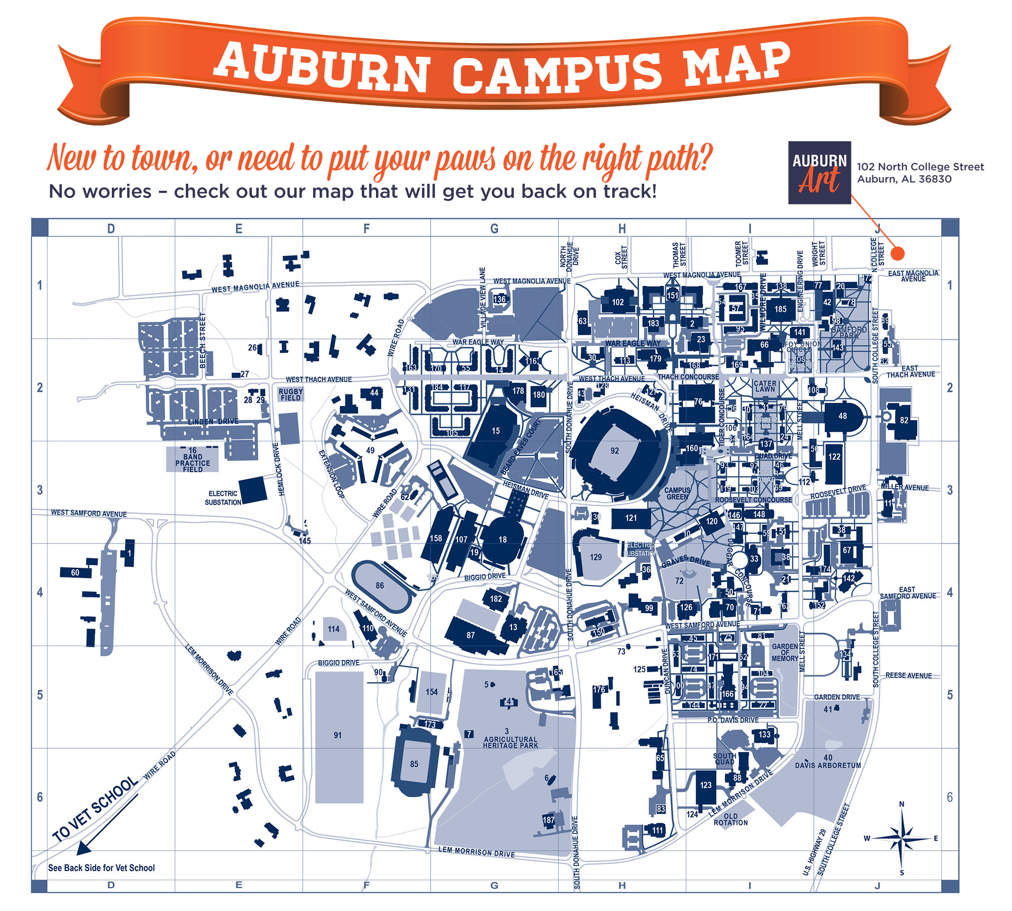 Auburn University Campus Map Auburn University Campus Map – Auburn Art