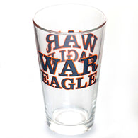 Auburn 16oz WAR EAGLE Pint Glass