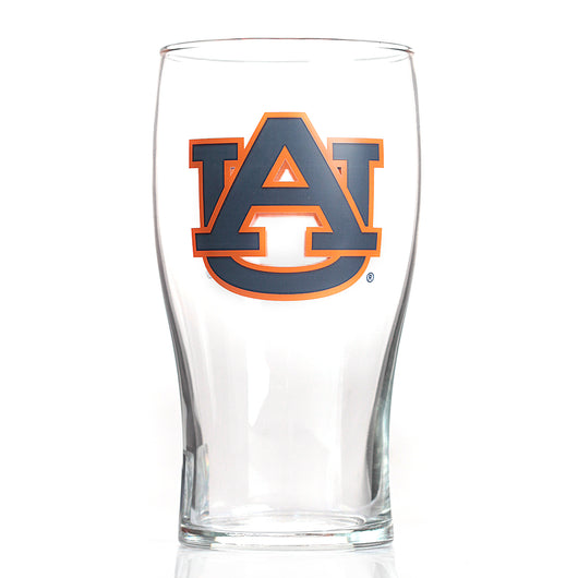 Auburn 20oz 2 sided AU Logo Pub Glass