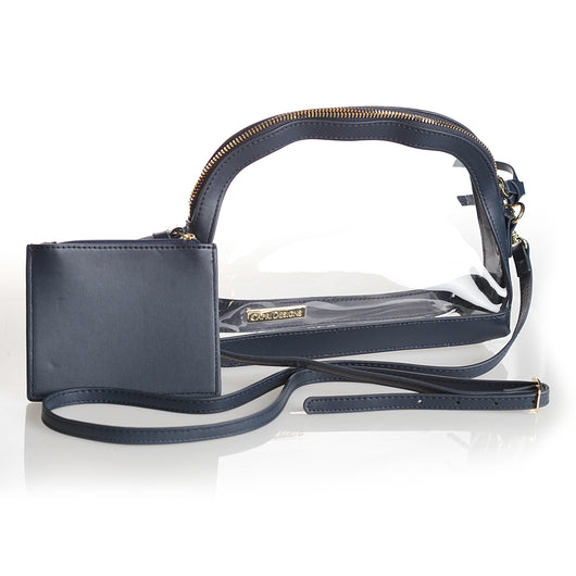Half Moon Navy Clear Crossbody