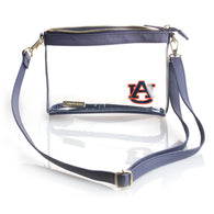 AU Large Crossbody with Navy/Gold
