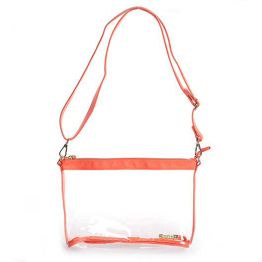 Orange Clear Small Crossbody Purse