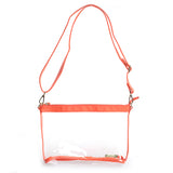 Orange Clear Large Crossbody Purse