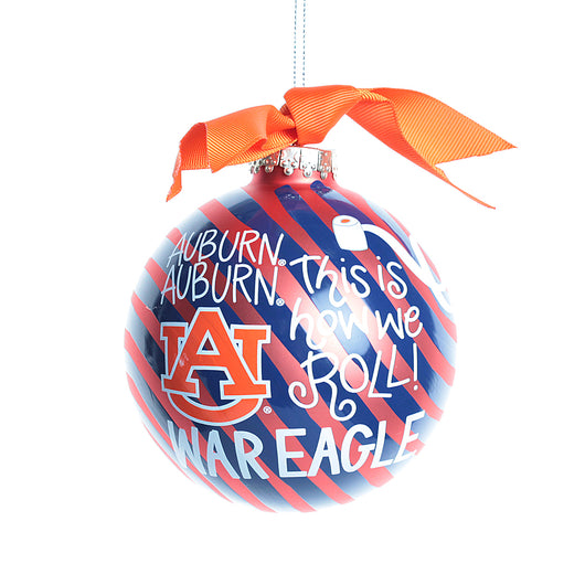 Auburn Word Collage Swirl Christmas Ornament