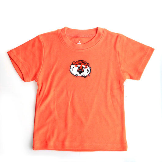 Orange Short Sleeve Aubie Face Tee
