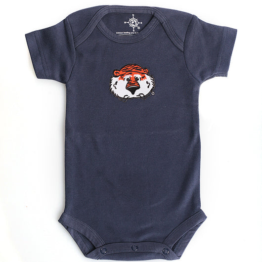 Navy Bodysuit with Aubie Face