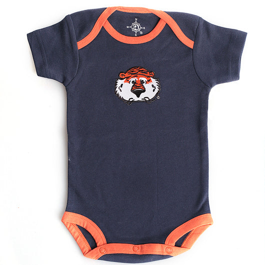Navy and Orange Onesie with Aubie Face