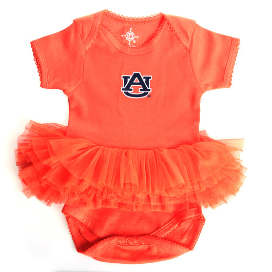 Orange Tutu Onesie with Embroidered AU Logo