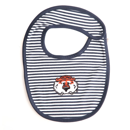 Navy Striped Aubie Bib