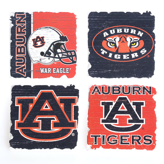 Auburn Assorted Square Coasters