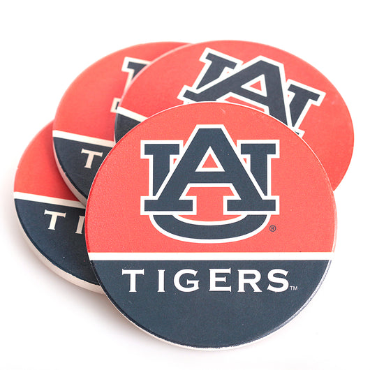 AU Tigers 4 Pack Coaster Set