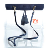Clear Purse with Tassle and Logo