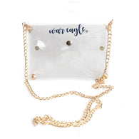 Auburn Clear War Eagle Purse w/ Gold Chain