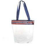 Clear War Eagle Zipper Stadium Tote