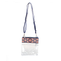 Clear Auburn Flower Crossbody Bag