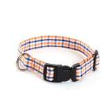 Gingham Auburn Dog Collar
