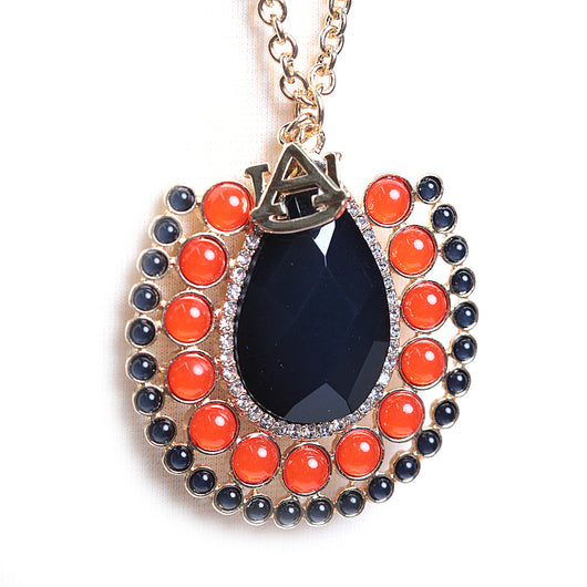 Auburn Long Medallion Necklace