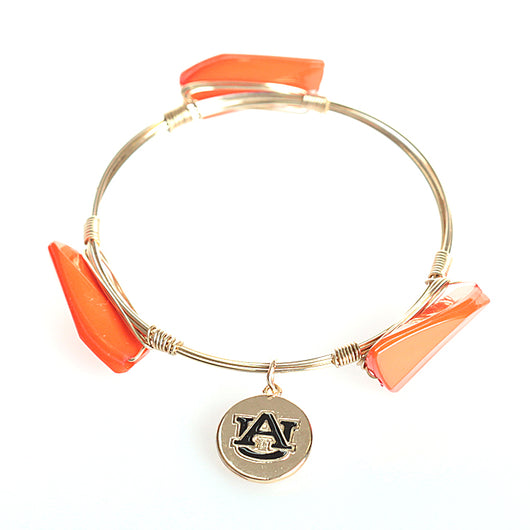 Auburn Orange/Gold Leah Bracelet