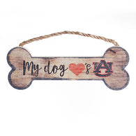 Auburn Dog Bone Sign (My Dog Loves Auburn)