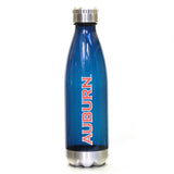 Auburn Water Bottle with Stainless Steel Accents