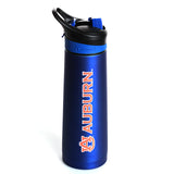 Auburn Navy Stainless Steel Sport Bottle w/ Carabiner