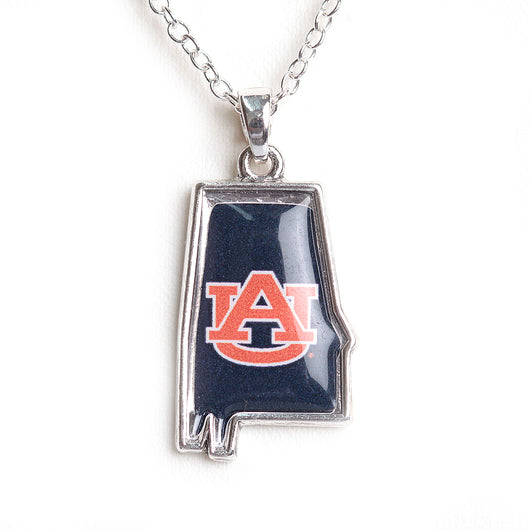 Auburn Tigers State of Mine Necklace