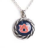 AU Logo Twist Rope Boarder Necklace