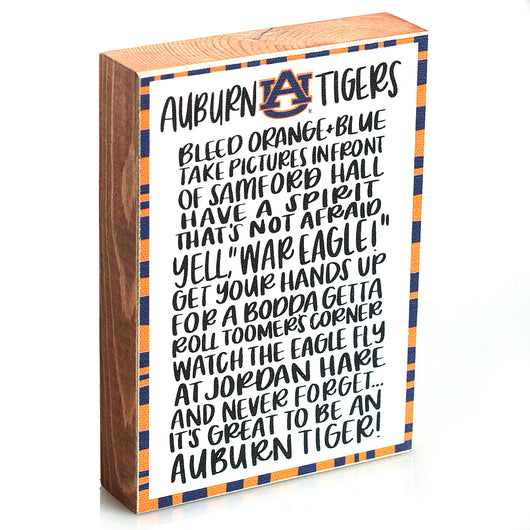 Auburn Fan Block Canvas