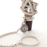 Auburn Logo Bottle Stopper with Chain