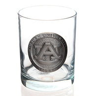 AU Pewter Logo Double Old Fashioned Glass