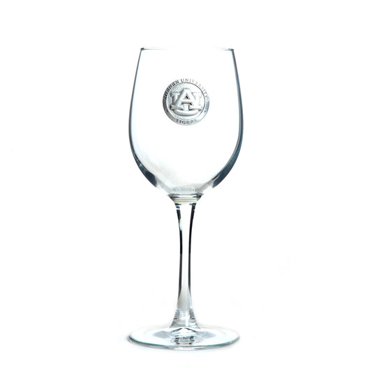 AU Pewter Logo Wine Glass