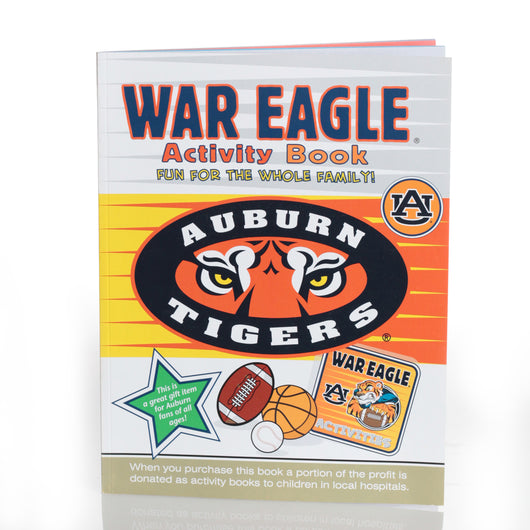 Large Auburn Activity Book