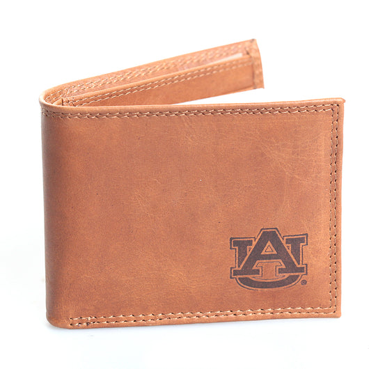 AU Tan Passcase Wallet