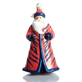 Tiger Striped Santa Ornament