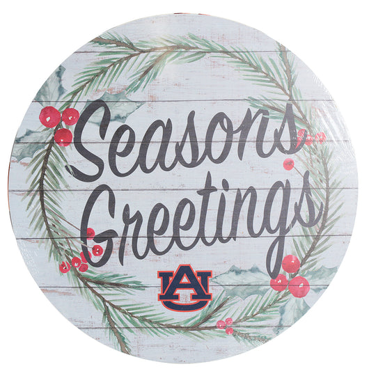 Seasons Greetings Barrel Sign