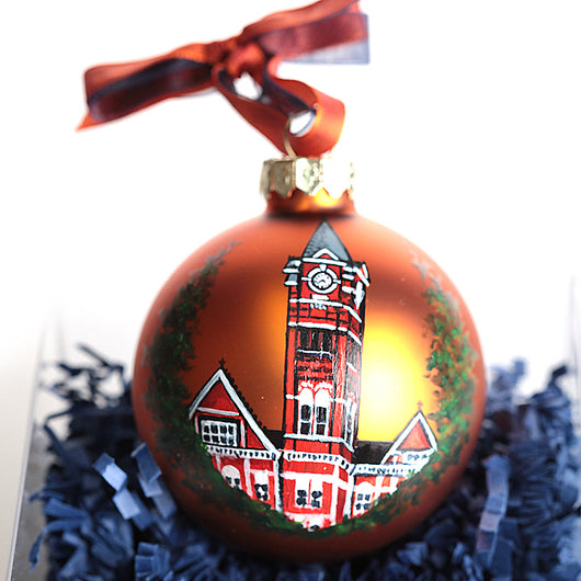 Hand Painted Samford Hall Ornament