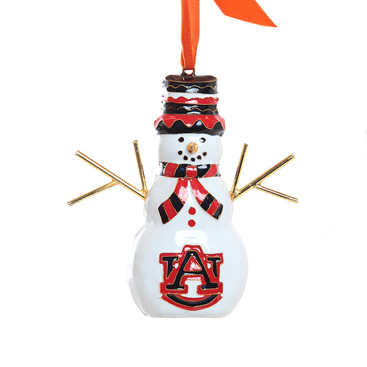 AU Snow Man Cloisonné Ornament