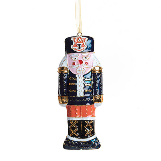 Auburn Nutcracker Cloisonne Ornament