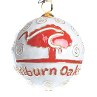 White Auburn Oaks Cloisonne Ornament