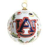 Auburn White Baby Tiger/Stocking/AU Logo Cloisonne Ornament