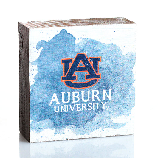 Auburn Abstract Spill Square Block