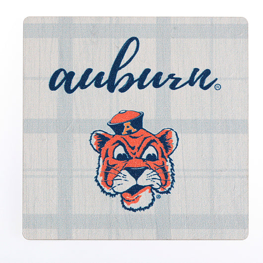 Auburn With Aubie Head Magnet