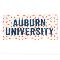 White/Orange Auburn University Magnet