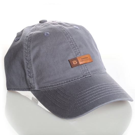 Slate Blue Hat w/Tiny Leather Patch