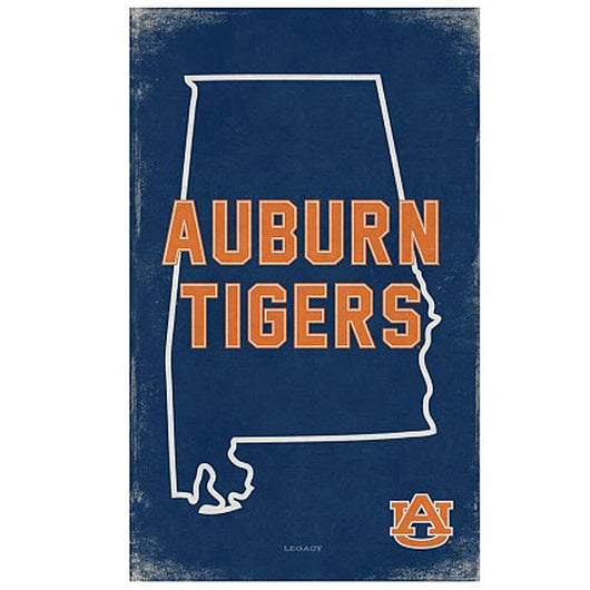 Auburn Vintage State Canvas Sign