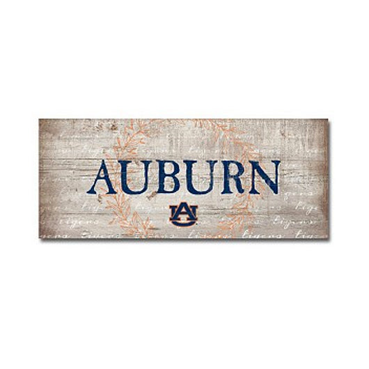 Auburn White Table Top Sign